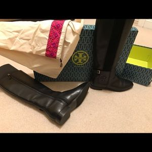 Tory Burch boots . Worn 1 time to small